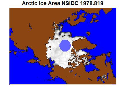 30 Year Arctic Sea Ice - NSIDC NasaTeam Bootstrap